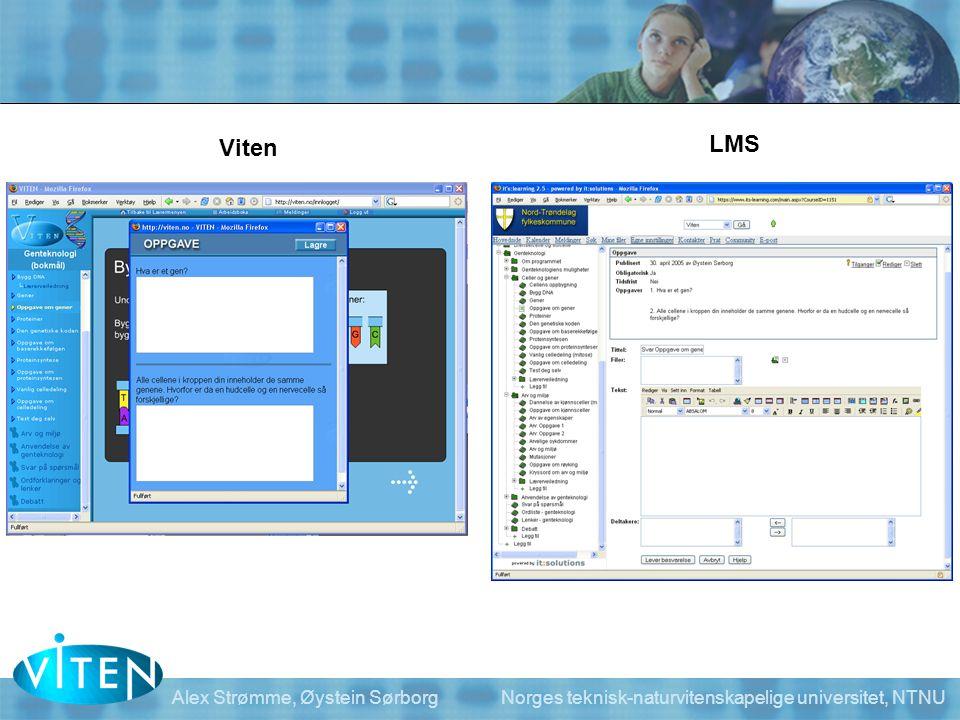 Viten LMS. Her kan man også velge å bruke tekstbehandlingsprogram i stedet og laste opp svarene i LMSet.