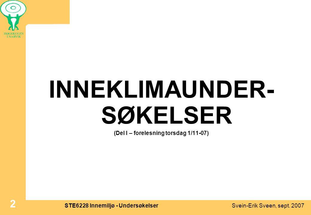 INNEKLIMAUNDER-SØKELSER