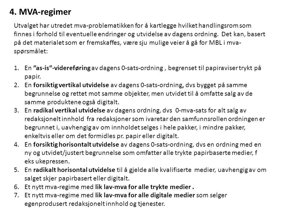 4. MVA-regimer
