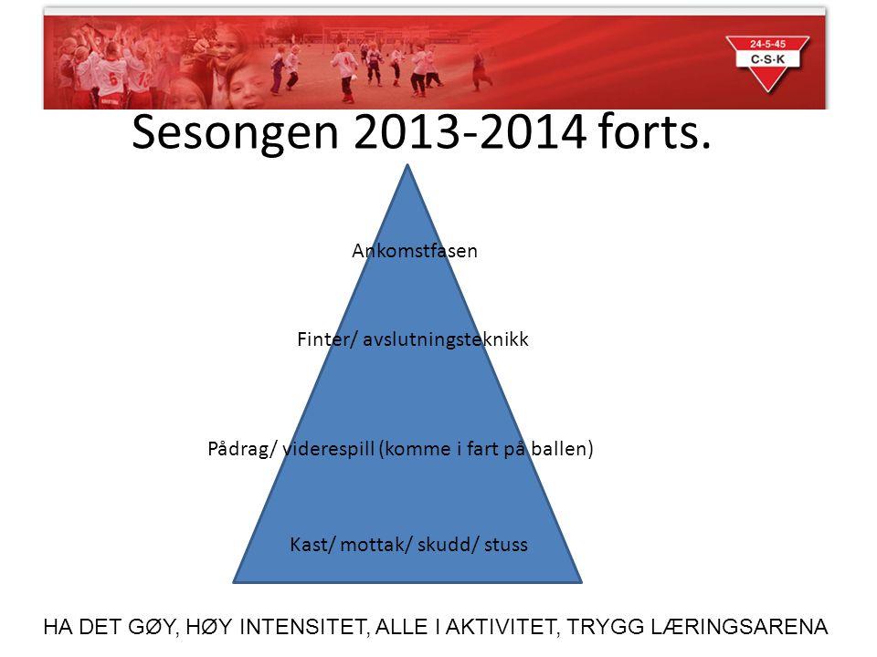 Sesongen 2013-2014 forts. Ankomstfasen Finter/ avslutningsteknikk