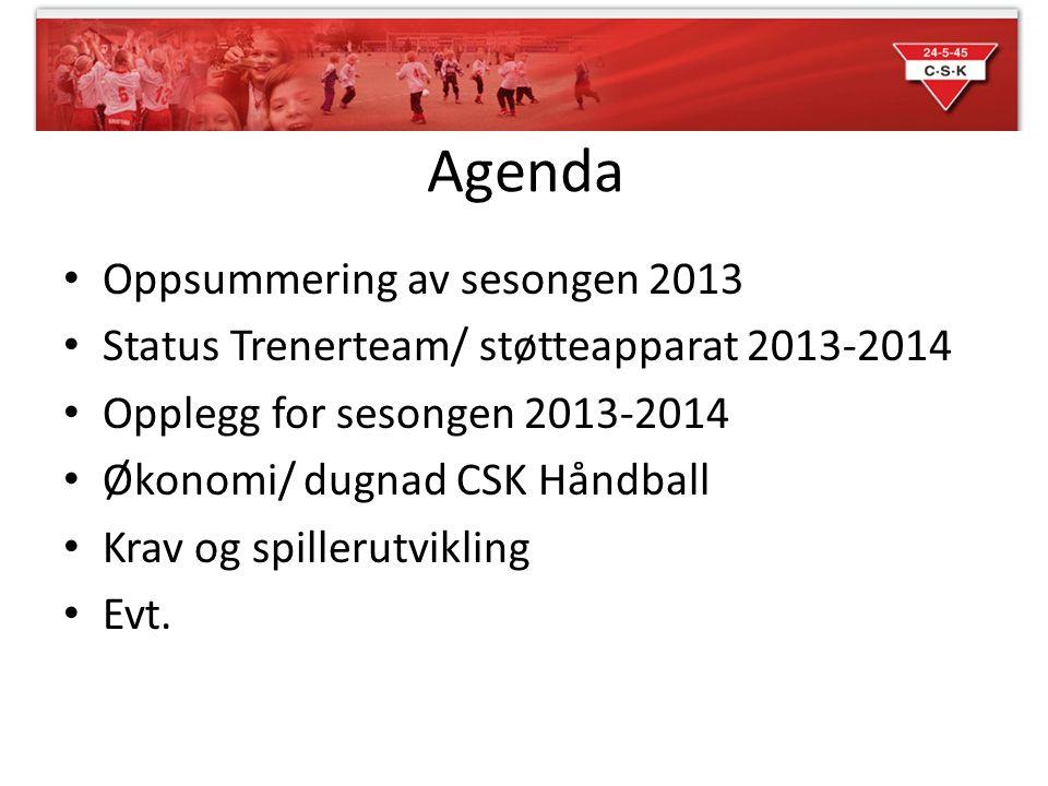 Agenda Oppsummering av sesongen 2013