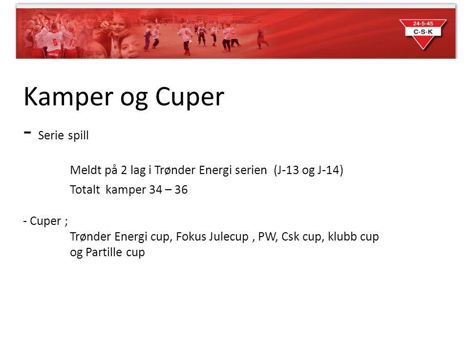 Kamper og Cuper - Serie spill