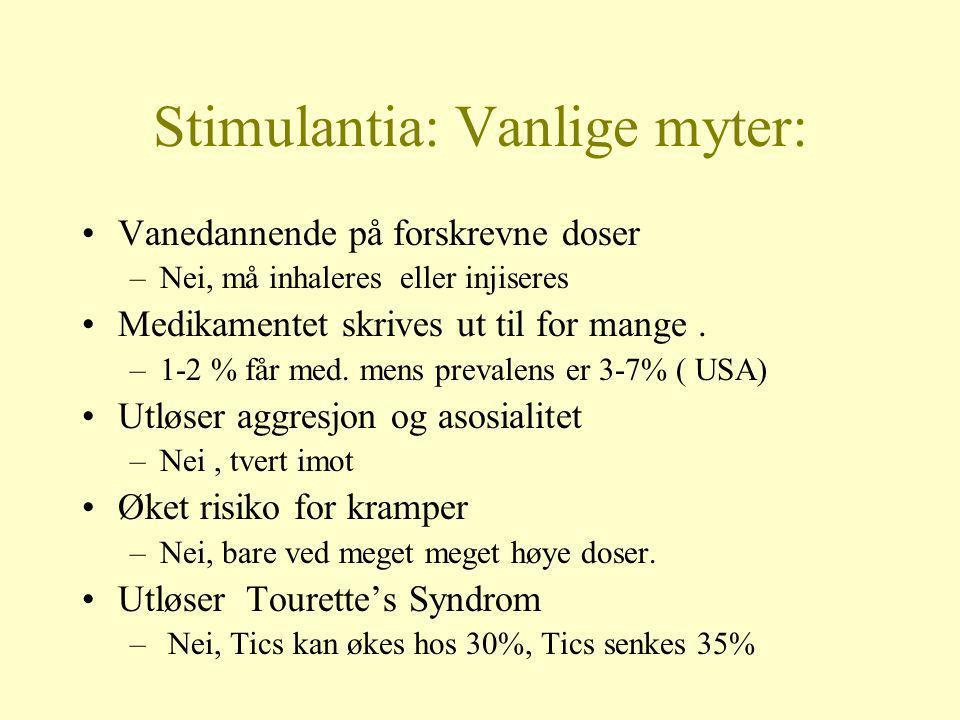 Stimulantia: Vanlige myter: