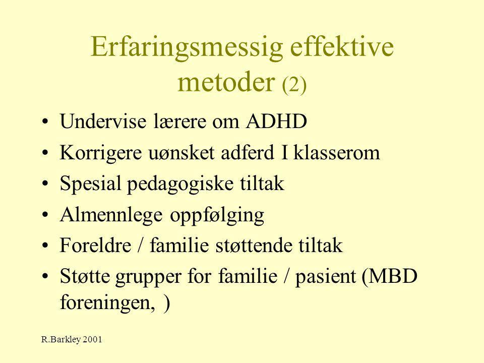 Erfaringsmessig effektive metoder (2)