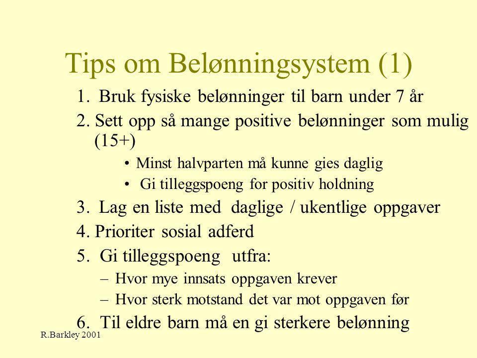 Tips om Belønningsystem (1)