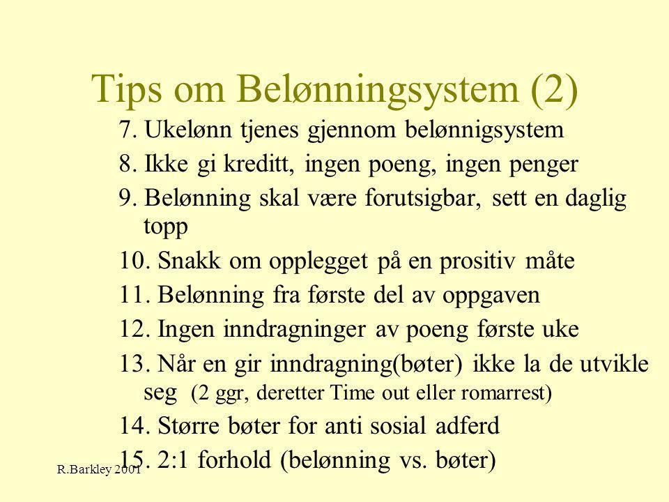 Tips om Belønningsystem (2)