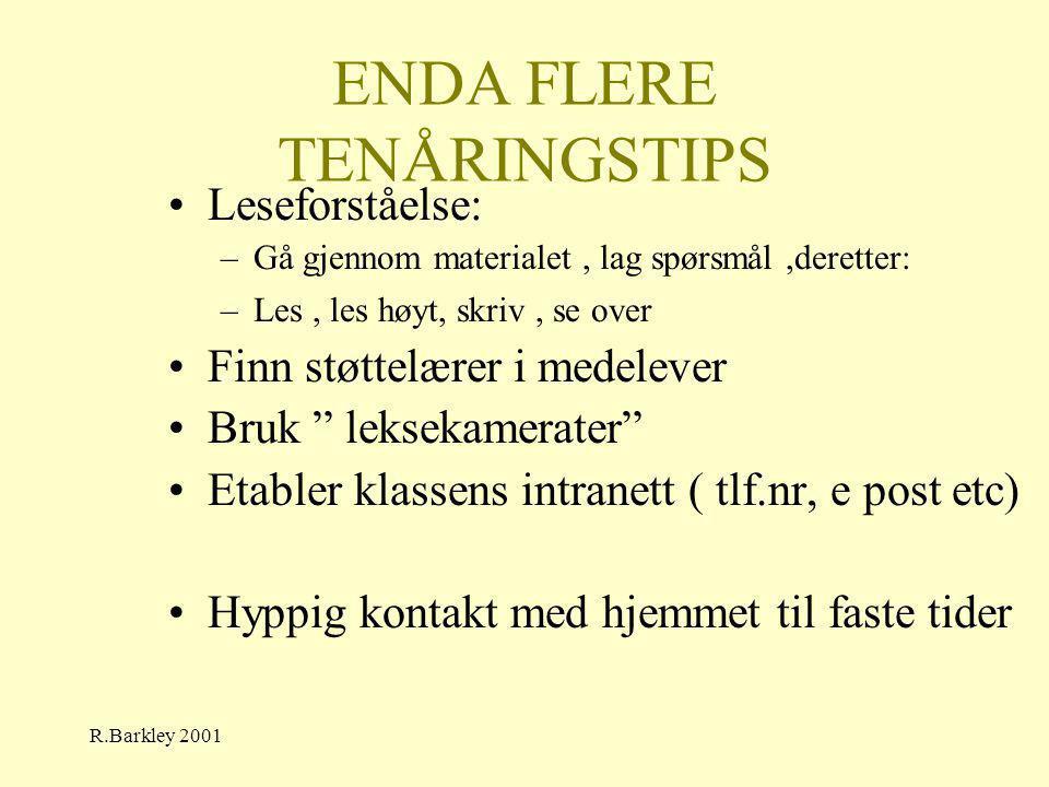 ENDA FLERE TENÅRINGSTIPS