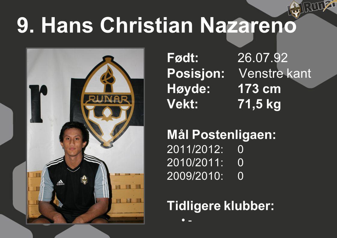 9. Hans Christian Nazareno