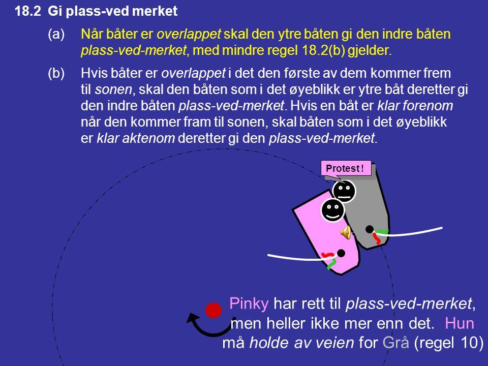 Pinky har rett til plass-ved-merket, men heller ikke mer enn det. Hun