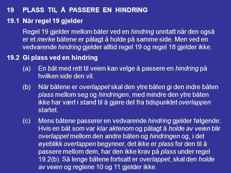 19 PLASS TIL Å PASSERE EN HINDRING