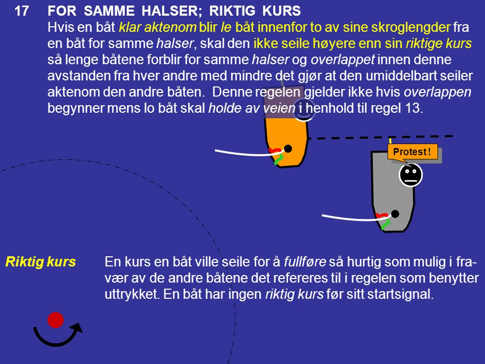 17 FOR SAMME HALSER; RIKTIG KURS
