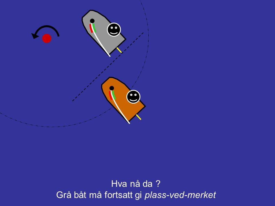 Grå båt må fortsatt gi plass-ved-merket