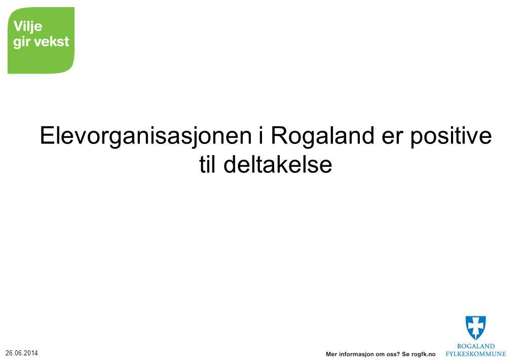 Elevorganisasjonen i Rogaland er positive til deltakelse