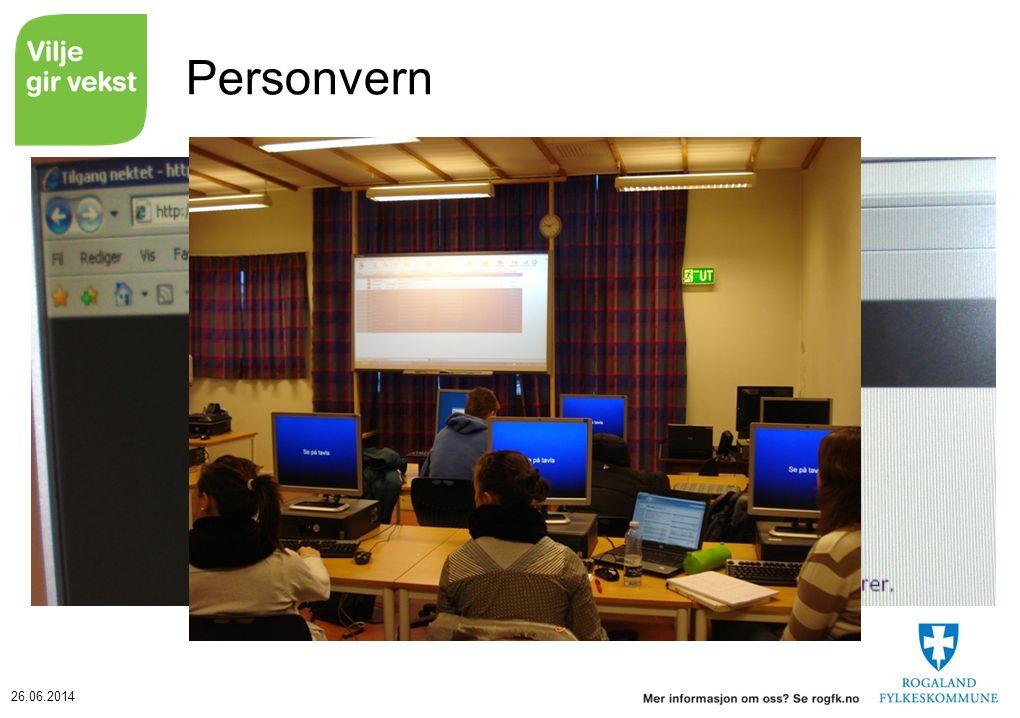 Personvern Terminere programmet