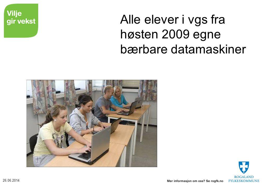 Alle elever i vgs fra høsten 2009 egne bærbare datamaskiner