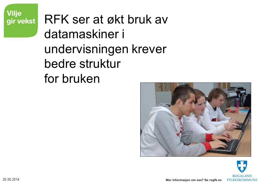 RFK ser at økt bruk av datamaskiner i undervisningen krever bedre struktur for bruken