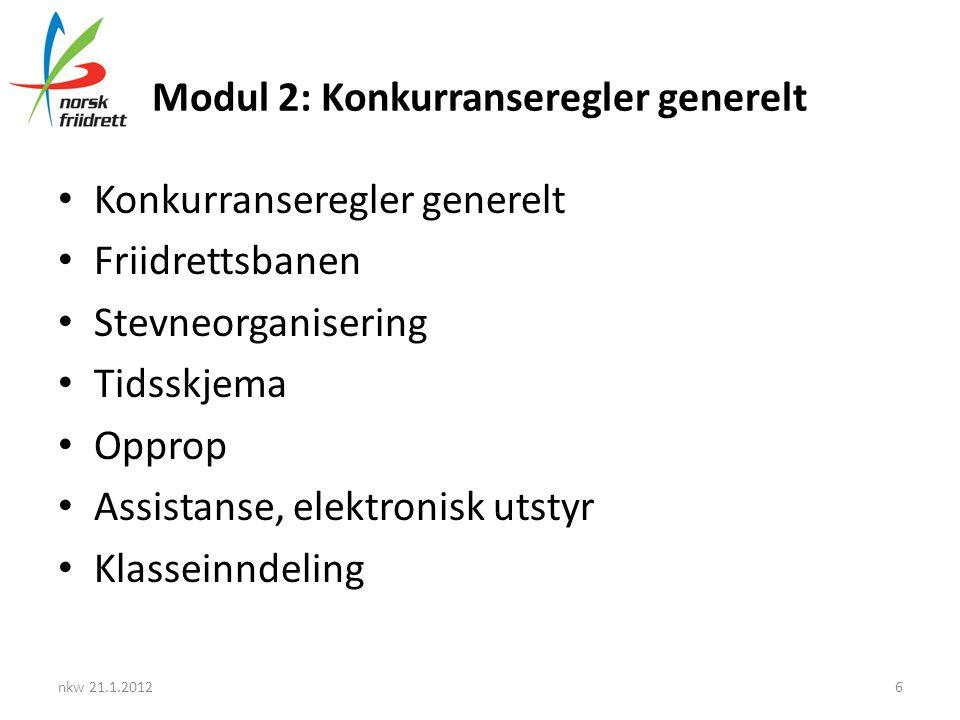 Modul 2: Konkurranseregler generelt