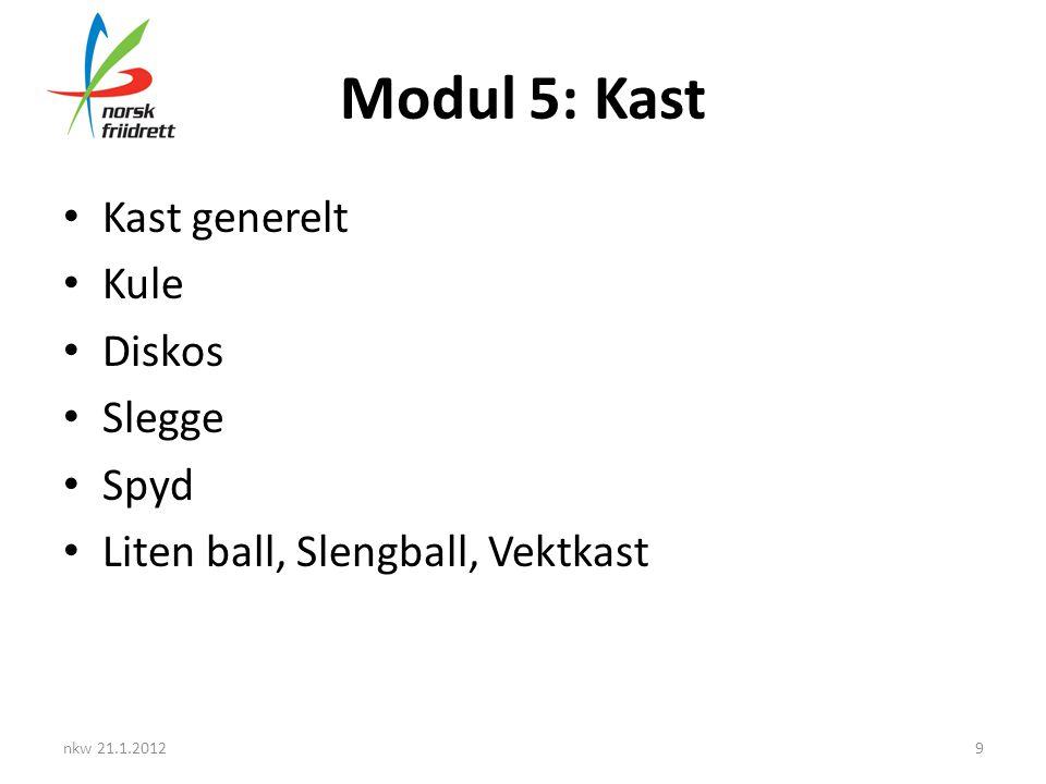 Modul 5: Kast Kast generelt Kule Diskos Slegge Spyd
