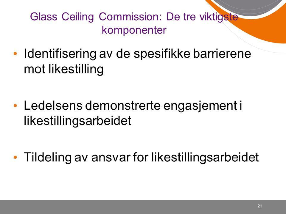 Glass Ceiling Commission: De tre viktigste komponenter