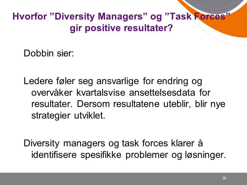 Hvorfor Diversity Managers og Task Forces gir positive resultater