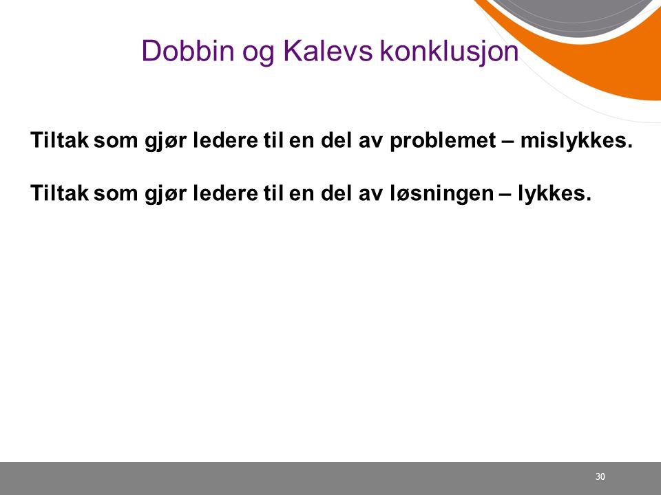 Dobbin og Kalevs konklusjon