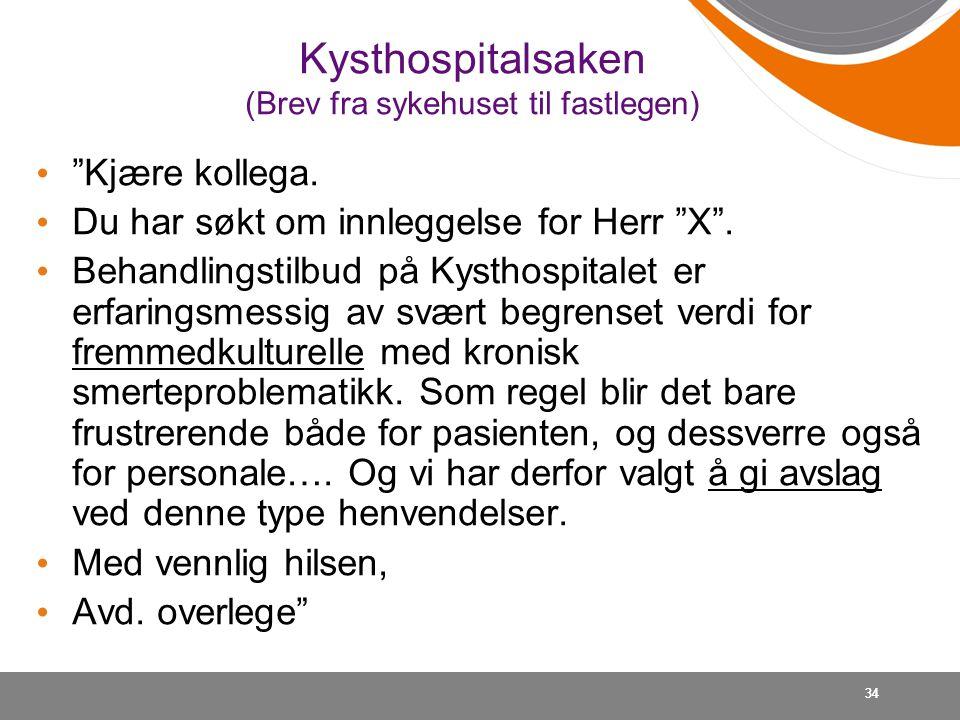 Kysthospitalsaken (Brev fra sykehuset til fastlegen)