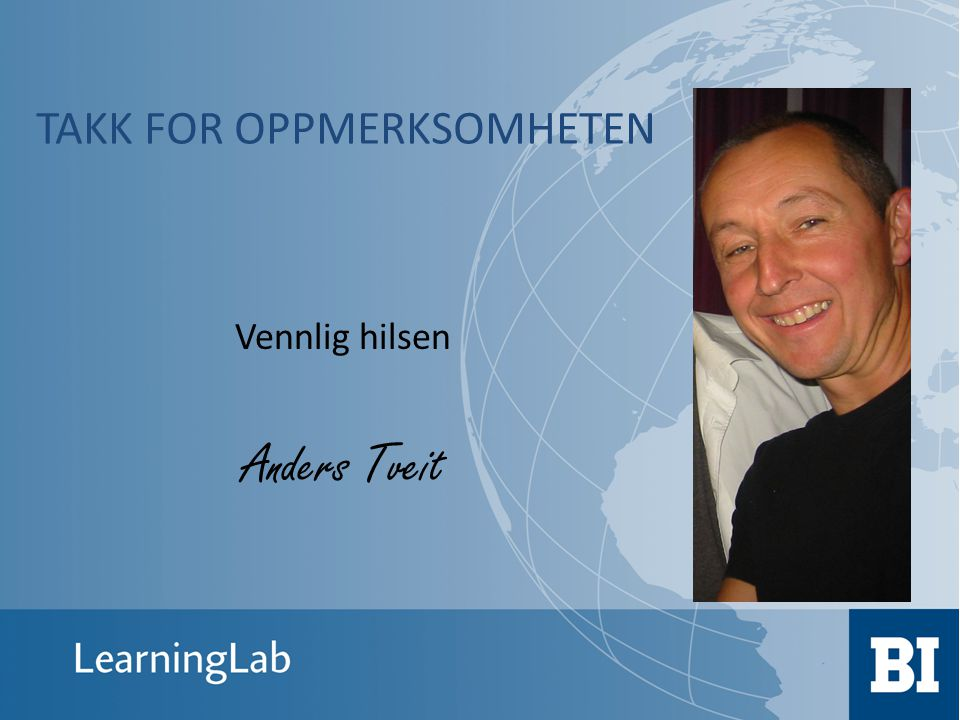 Vennlig hilsen Anders Tveit