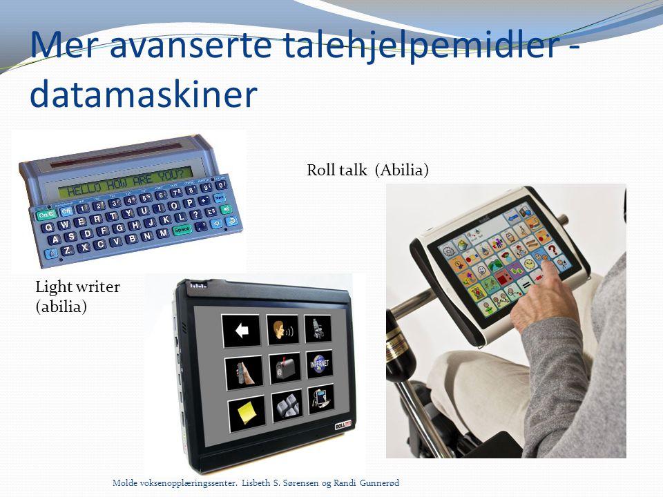 Mer avanserte talehjelpemidler - datamaskiner