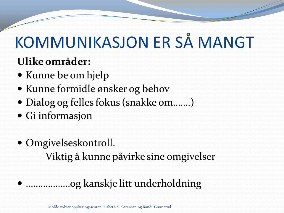 KOMMUNIKASJON ER SÅ MANGT