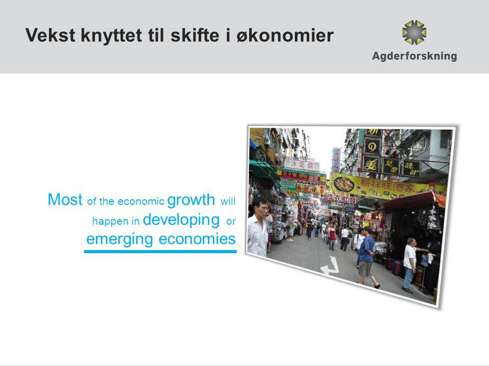 Vekst knyttet til skifte i økonomier
