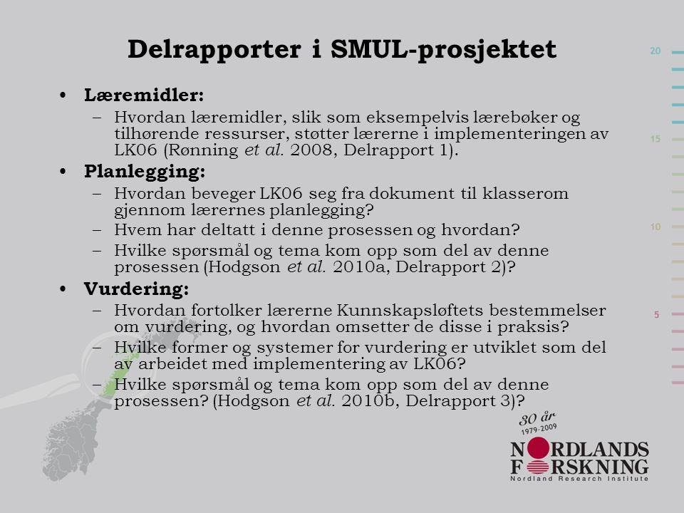 Delrapporter i SMUL-prosjektet