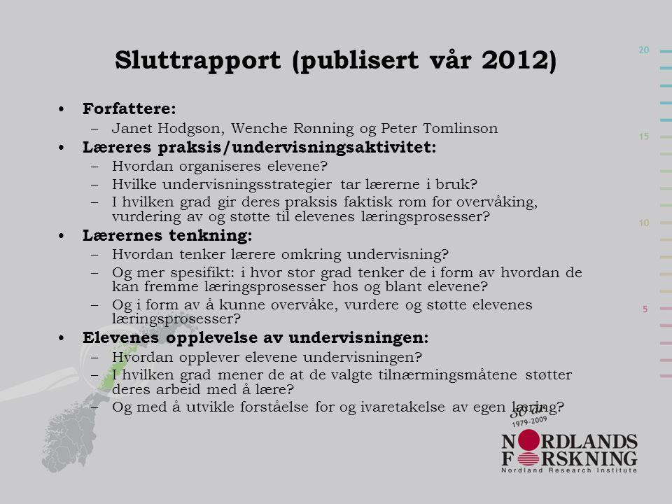 Sluttrapport (publisert vår 2012)