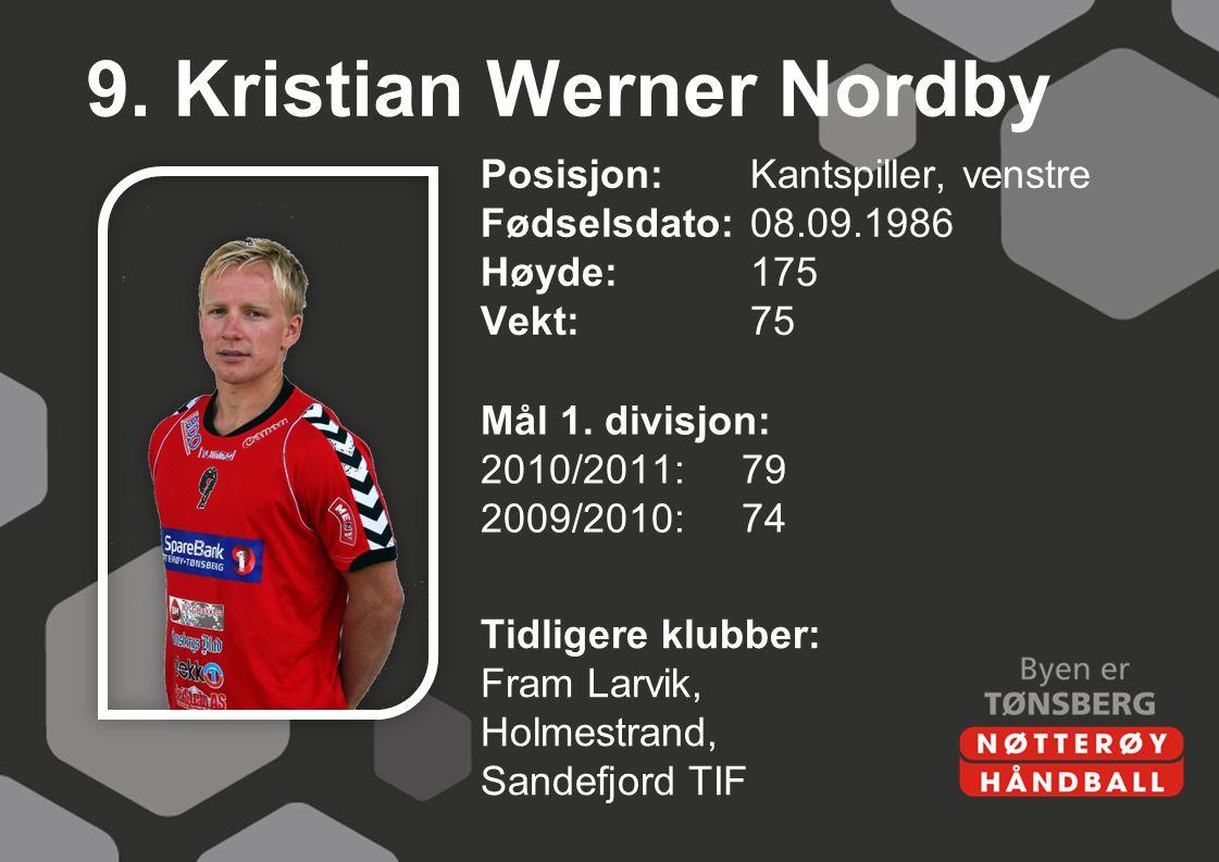 9. Kristian Werner Nordby