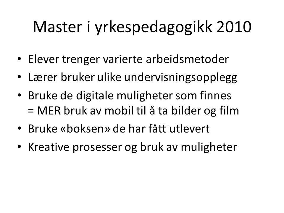 Master i yrkespedagogikk 2010