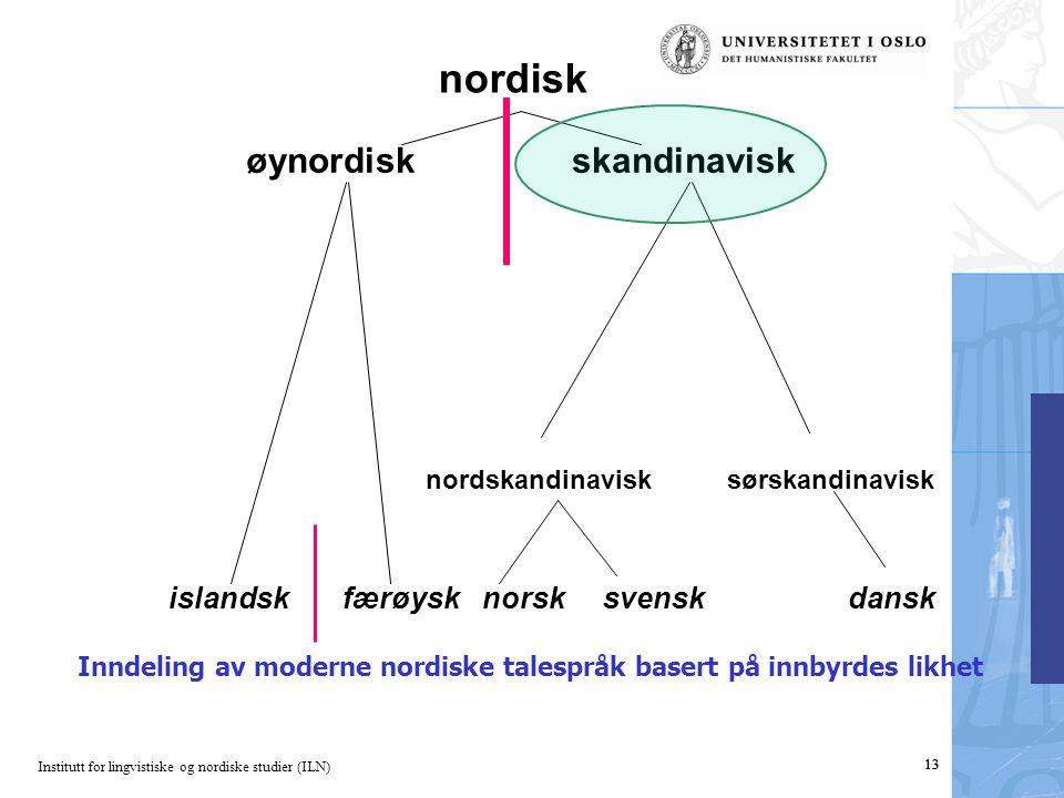 nordisk øynordisk skandinavisk islandsk færøysk norsk svensk dansk