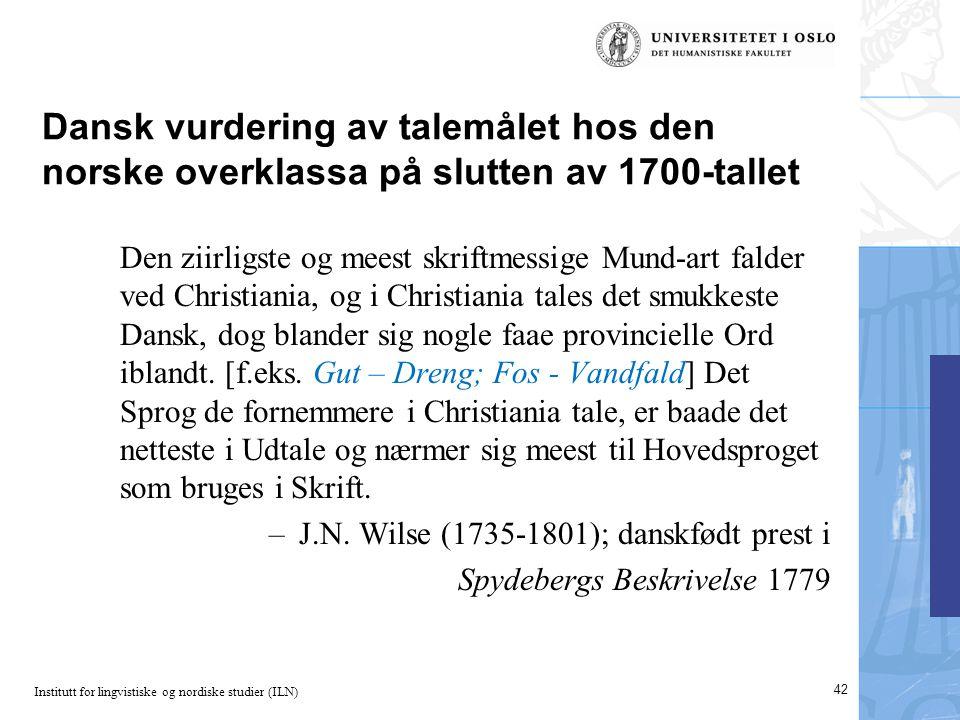 Dansk vurdering av talemålet hos den norske overklassa på slutten av 1700-tallet