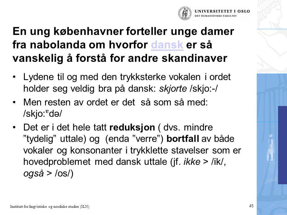 En ung københavner forteller unge damer fra nabolanda om hvorfor dansk er så vanskelig å forstå for andre skandinaver