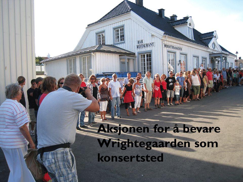 Aksjonen for å bevare Wrightegaarden som konsertsted