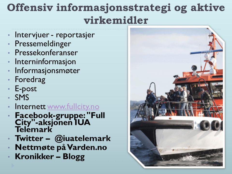 Offensiv informasjonsstrategi og aktive virkemidler