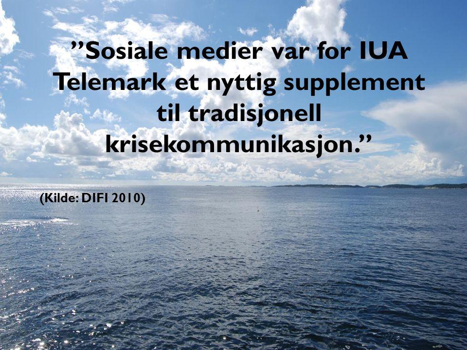 Sosiale medier var for IUA Telemark et nyttig supplement til tradisjonell krisekommunikasjon.