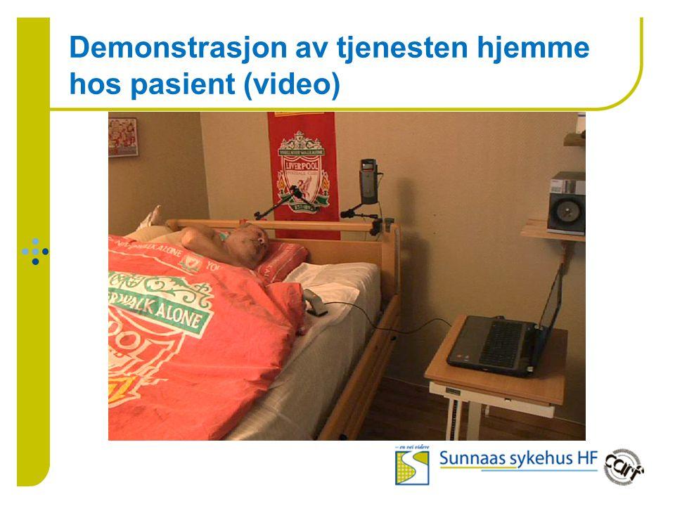 Demonstrasjon av tjenesten hjemme hos pasient (video)