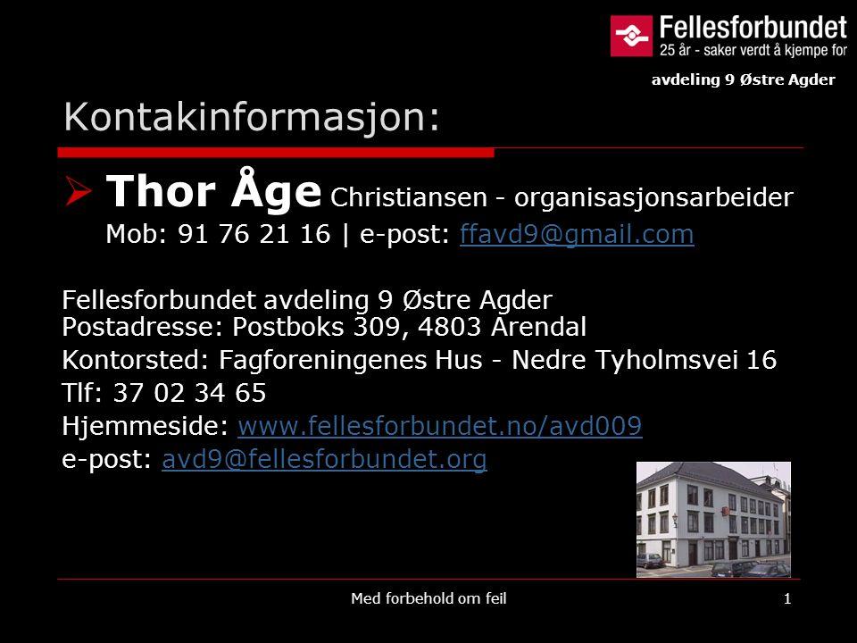 Thor Åge Christiansen - organisasjonsarbeider