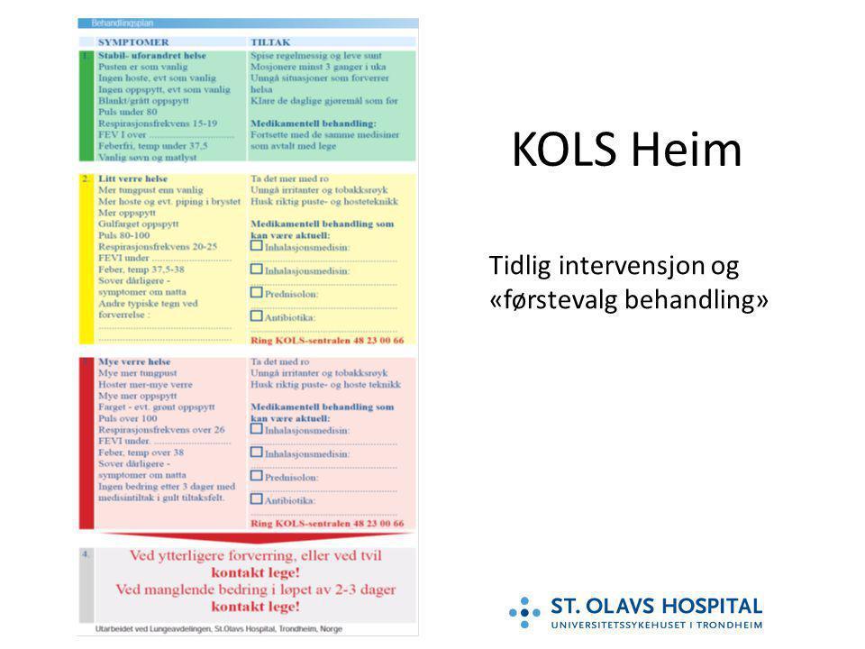 KOLS Heim Tidlig intervensjon og «førstevalg behandling»