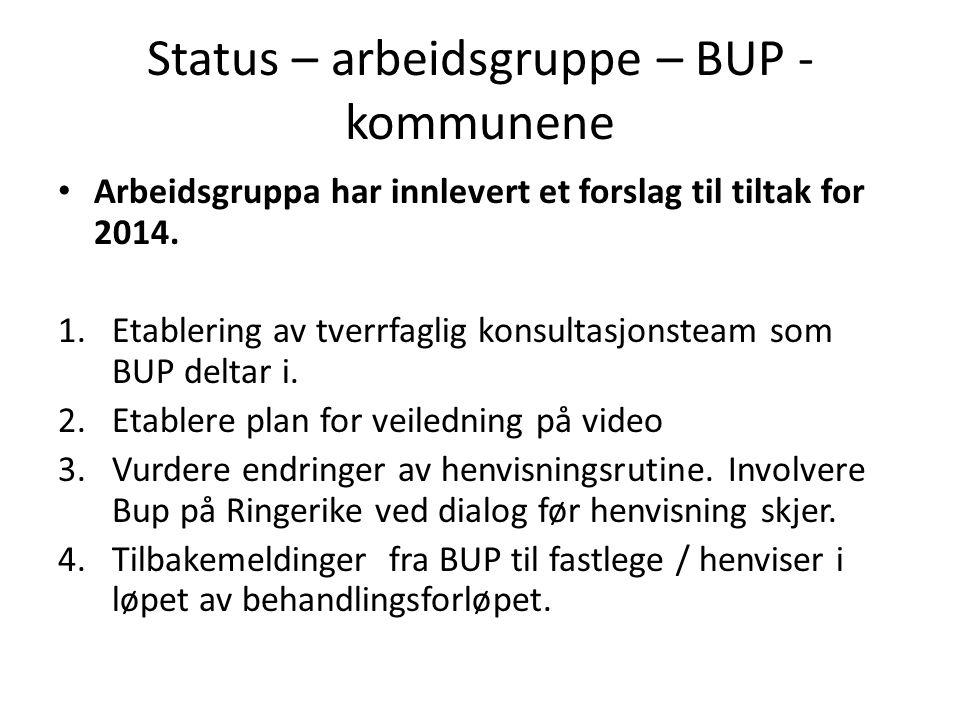 Status – arbeidsgruppe – BUP - kommunene