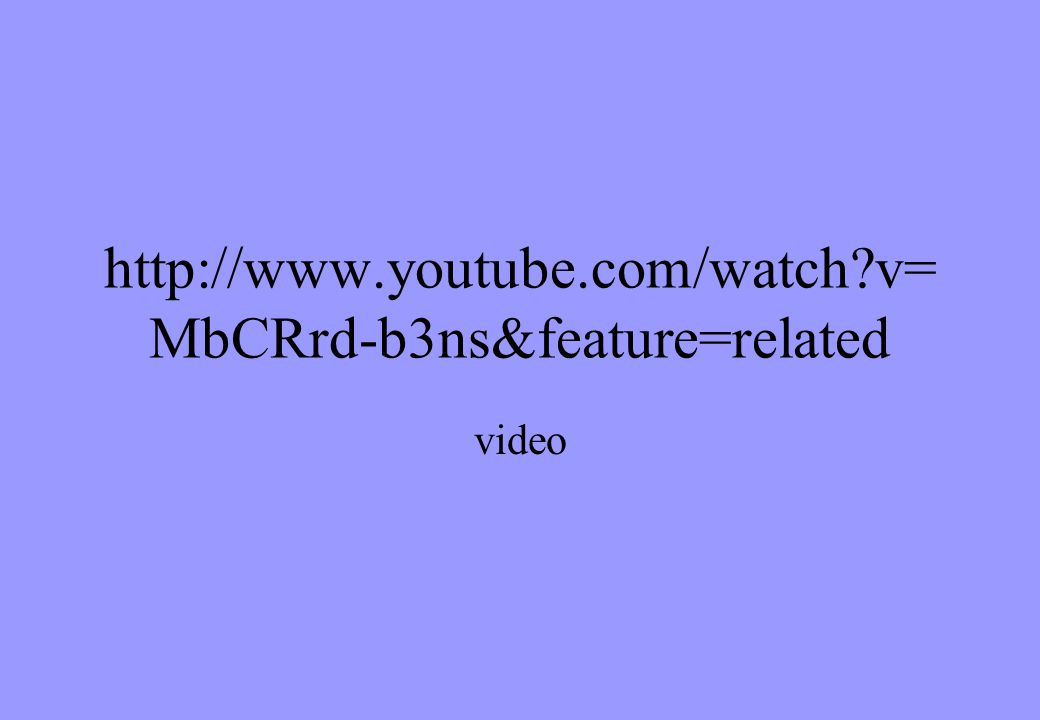 http://www.youtube.com/watch v=MbCRrd-b3ns&feature=related video