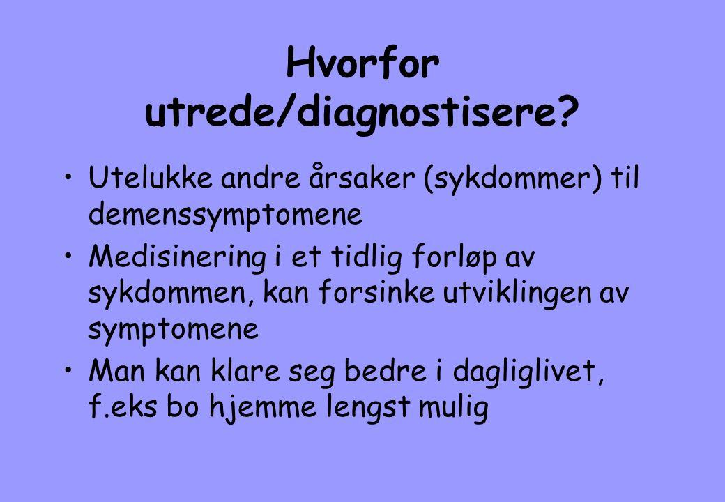Hvorfor utrede/diagnostisere