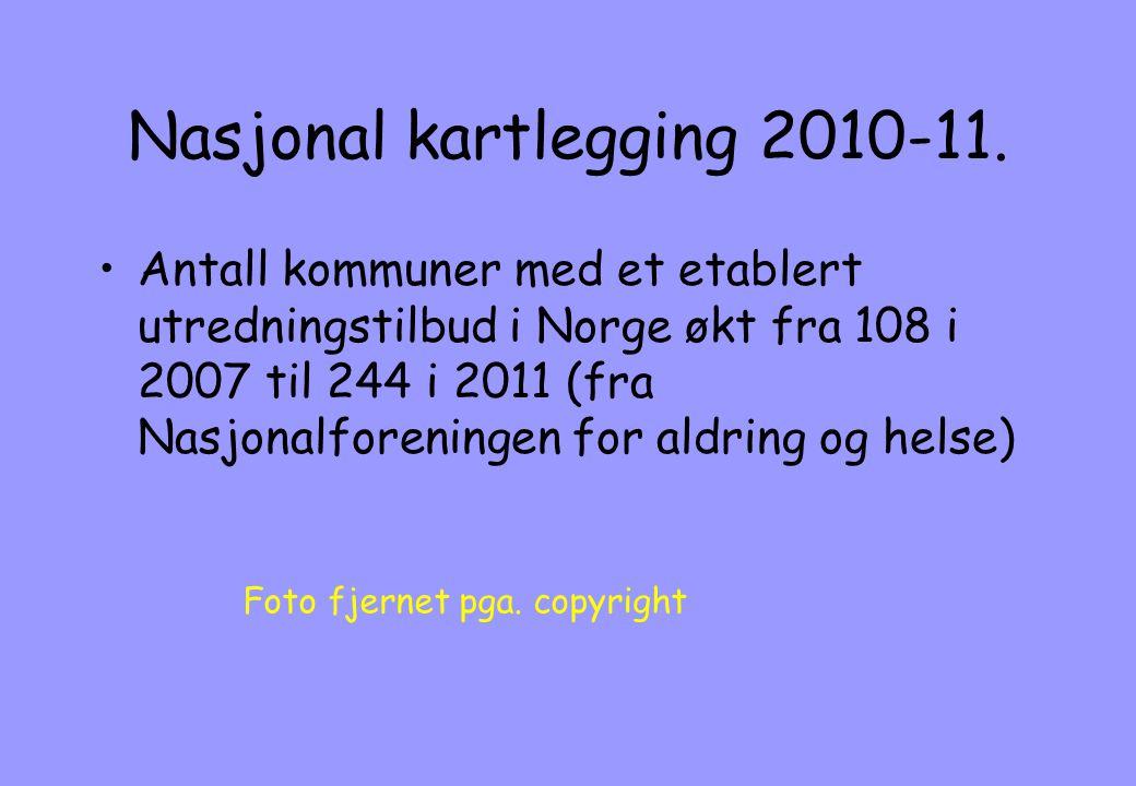 Nasjonal kartlegging 2010-11.