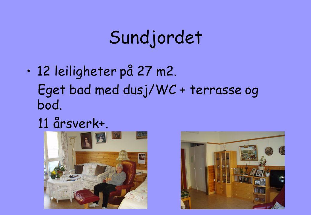 Sundjordet 12 leiligheter på 27 m2.