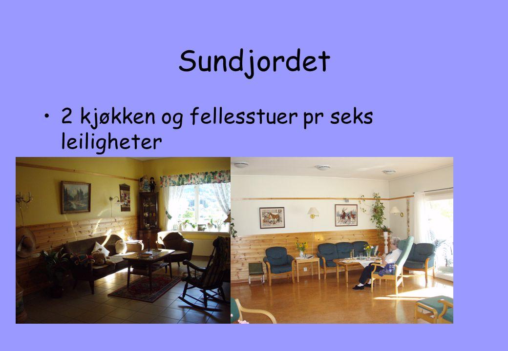 Sundjordet 2 kjøkken og fellesstuer pr seks leiligheter