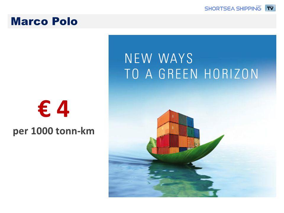 € 4 per 1000 tonn-km Marco Polo